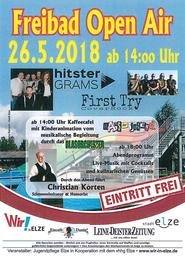 Plakat Freibad Open Air